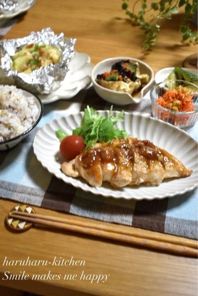 【レシピ】疲労回復効果あり♪梅照り焼きチキン✳︎人参のくるみサラダ✳︎簡単✳︎主菜・副菜✳︎