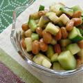 きゅうりと茄子のサラサラにんにく納豆