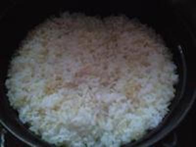 湯立てで白米(668)。。。特別栽培米広島世羅高原産コシヒカリ玄米(あいざわ米店)福井県産越前たけふ特別栽培米コシヒカリ白米(あいざわ米店)