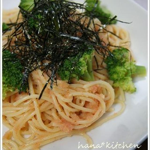 簡単!だけど、おいしい♪明太子パスタと&アンチョビとキャベツのサラダ。