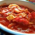 豚こまとキャベツ、玉ねぎホールトマト缶煮のリメイク♪