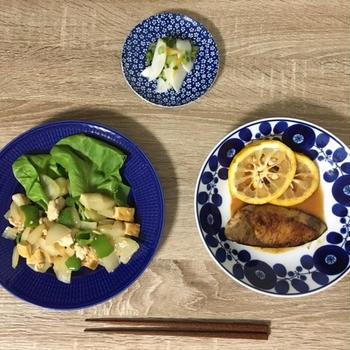 ヨシケイの食材宅配でぶりの柚香焼き・ひき肉と生揚げのオイスターソース・かぶの酢漬けを作ってみた