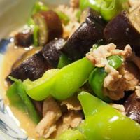 ♪スパイスレシピ♪スタミナたっぷり☆茄子とピーマンと豚肉のにんにく味噌炒め。