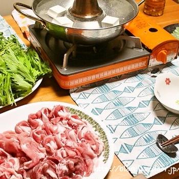 豚しゃぶ鍋の献立