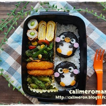 【旦那のオベントウ】 ペンギンのお弁当