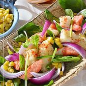 タラとカニカマのフリット ☆ HOTなサラダ♪
