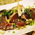 アメリカで作るごはんは 和食です  かつおのたたき