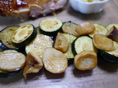 照り焼きチキン 夏野菜と豆腐の炒め