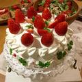 苺のデコレーションケーキ♡