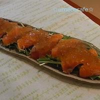 柚子胡椒ジュレdeサーモンのカルパッチョ