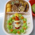12月11日 枝豆リースとミニサンタさん弁当