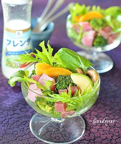 彩り野菜のサラダパフェ♪