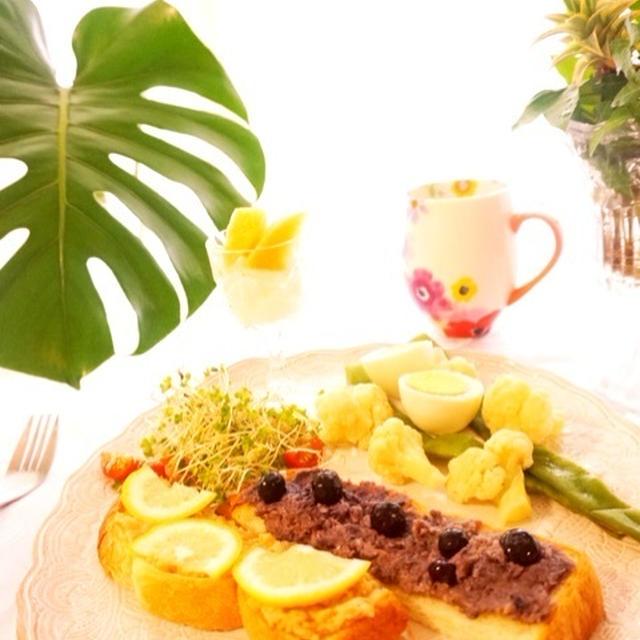 フルーツ入り大豆バタートースト(レモン味・ブルーベリー味)