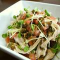 鶏むね肉のトマトと胡瓜の漬物サラダ♪