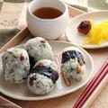 とら豆と天かすのあおさおにぎり☆おにぎり1つでも栄養をプラス! by ひなちゅんさん