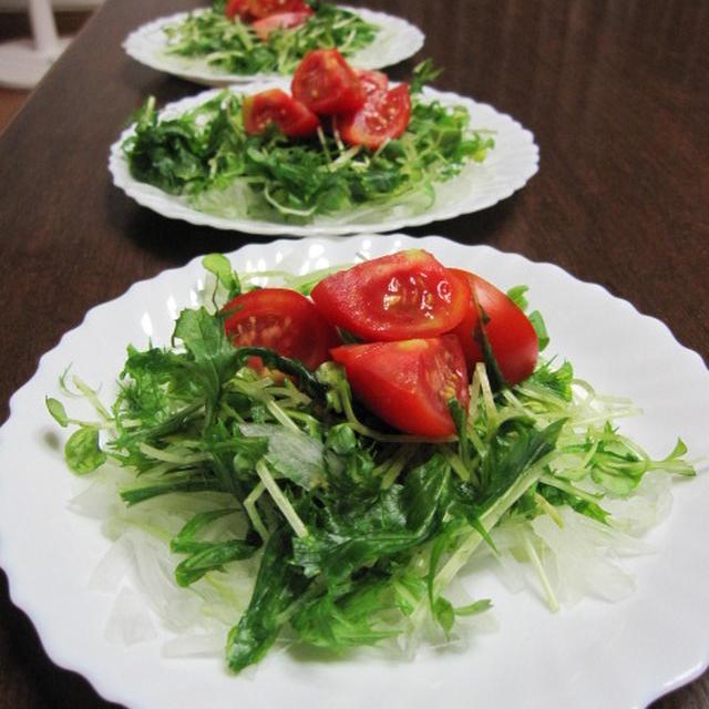 トマトサラダとフリカッセ