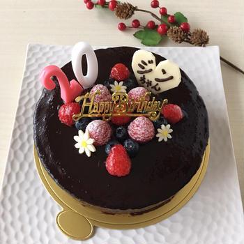 ムース・オ・ショコラの誕生日ケーキ