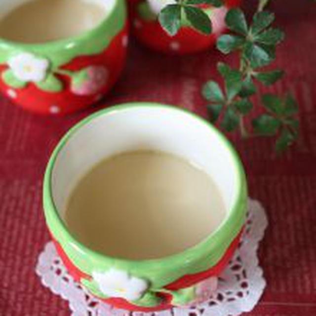 抹茶入り玄米茶プリン