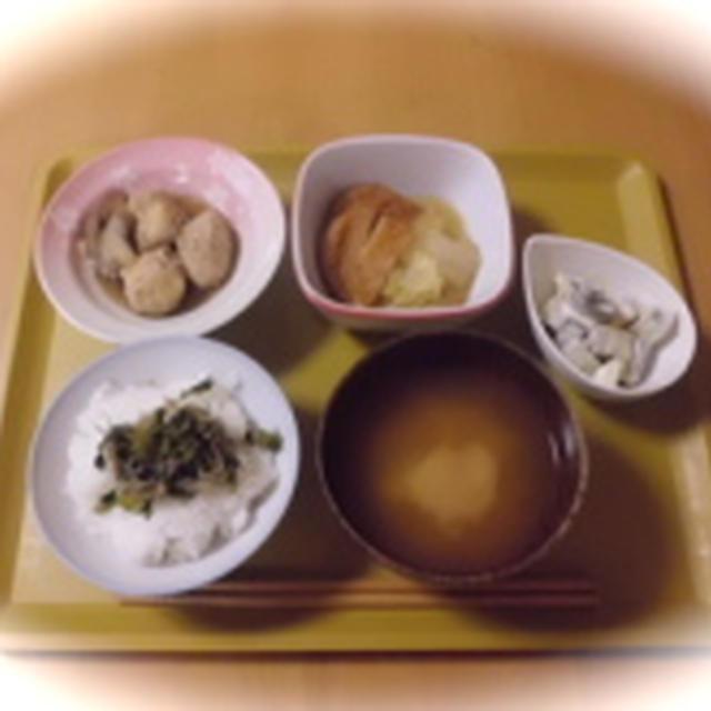 【夜ごはん2日分 ごぼう鶏団子煮とさんまのフライの夜ごはん】