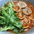 チョッピーノスープにライスパスタ ケンミン食品のグルテンフリー麺