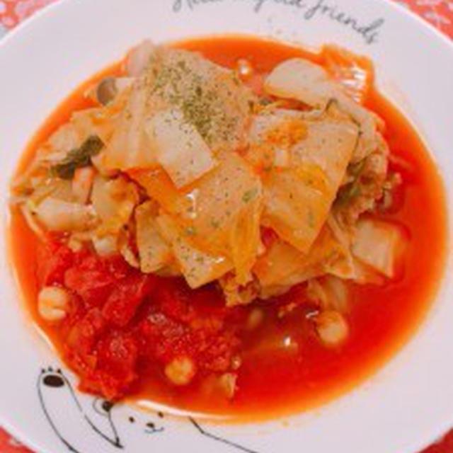 〈スパイス大使〉GABANクローブを使って、豚バラ肉と白菜、ひよこ豆のトマト煮込みと母の好きなところ