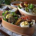 【レシピ】はんぺん鶏つくね#つくね#かさまし#高たんぱくおかず#お弁当おかず…二個弁と朝ごはん。
