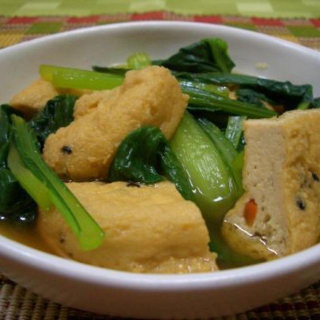 小松菜とがんもどきの煮びたし♪