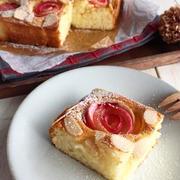 HMで簡単しっとり【りんごとアーモンドのケーキ】