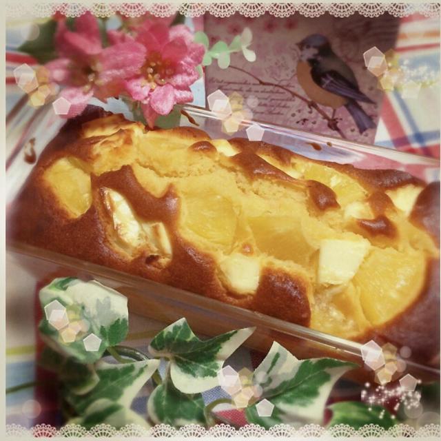 パインとクリームチーズのパウンドケーキ
