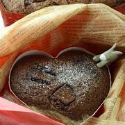 友人(男性)の為に考えたレシピ★「ほんとに簡単!サクふわしっとり半溶けチョコケーキ」