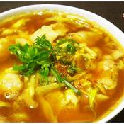 キャベツ麺のカレー南蛮風