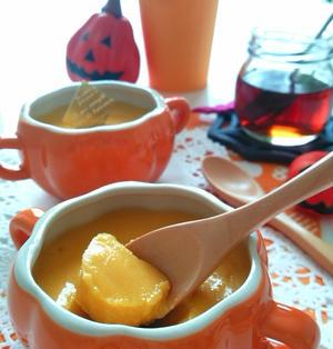 お豆腐で☆かぼちゃプリン