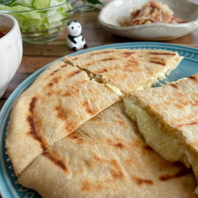 京都江部粉とライスポットでつくるチーズナン