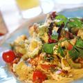 【ルクエde絶品秋色イタリアン!!】バリエでパスタ/ドリンクは夏ミカンのスムージーです。 by あきさん