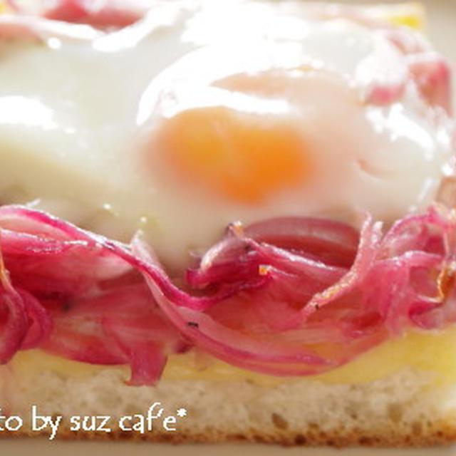 卵とアーリーレッドのチーズトースト。。。