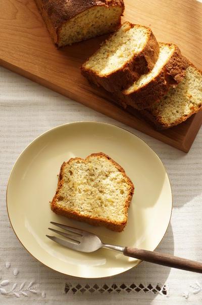 ホットケーキミックスで簡単!晩白柚と紅茶のケーキ