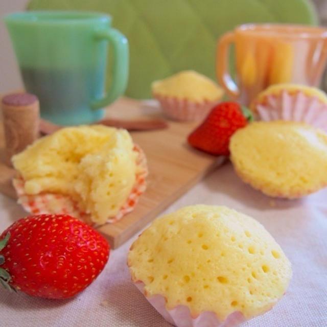 レンジで3分!混ぜるだけ♪ホットケーキミックスで簡単チーズ蒸しパン♪