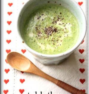 小松菜の豆乳ポタージュ