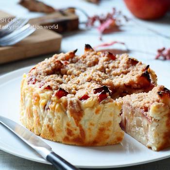 アップルクランブルチーズケーキ