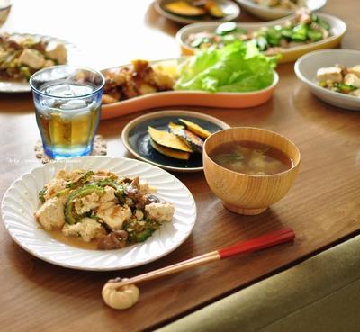 蛸の唐揚げと砂肝チャンプルー、デミキーマカレーページ公開です