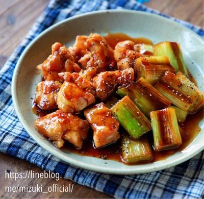 ♡はちみつ醤油で♡鶏肉とねぎの照り焼き♡【#簡単レシピ#ごはんがすすむ#フライパン】
