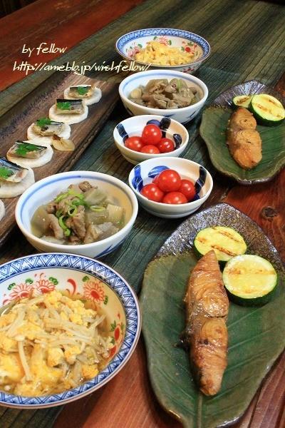 ◆焼き大根ON秋刀魚のオイル煮でおうちごはん♪~ゆるやか糖質制限♪