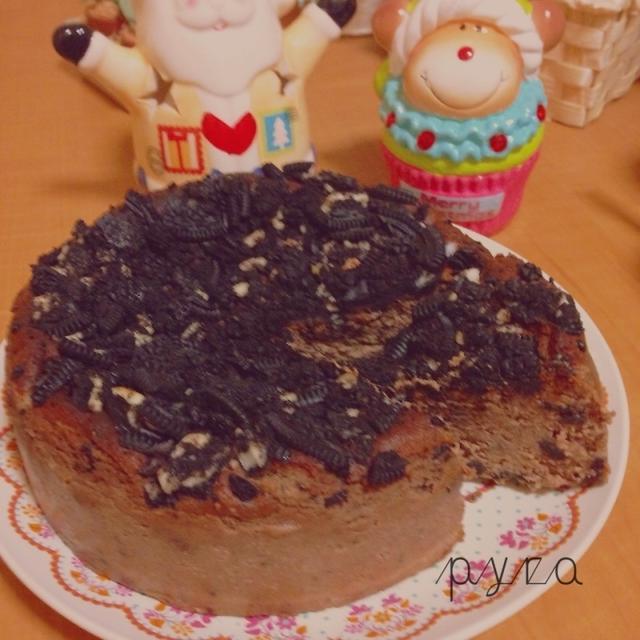 卵なし☆高野豆腐でベイクドチョコチーズケーキ♪