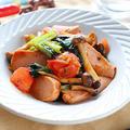 【お野菜たっぷりダイエットおかず】魚肉ソーセージと小松菜のトマト炒め|レシピ・作り方