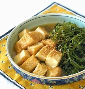 定番煮物を中華風に!切り昆布と厚揚げの中華煮☆