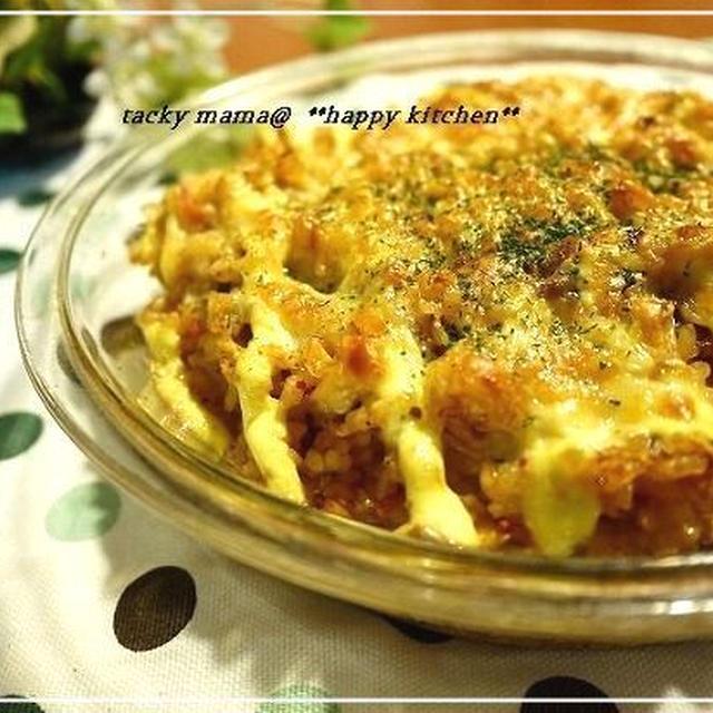 マヨキムチーズのガーリックドリア&カボチャの蒸し焼きプリンレシピ
