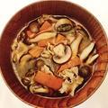 きのこと人参の洋風火鍋スープ