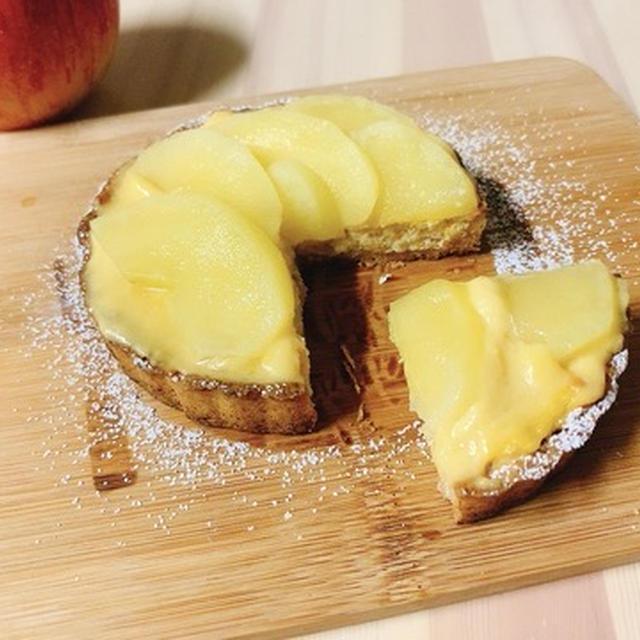 【ヘルシースイーツ】低カロリー☆チーズ不要!おからとりんごのチーズケーキ風タルト