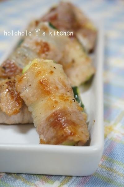 ズッキーニのひとくち豚バラスティック