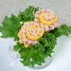 カレー風味の卵&ハムのお花